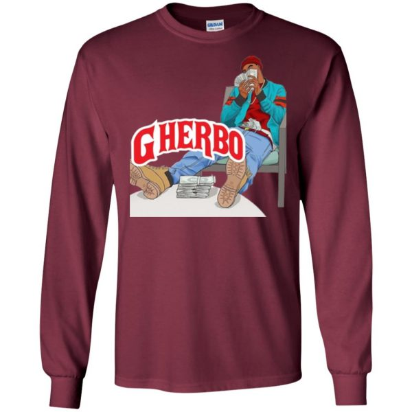 g herbo long sleeve - maroon