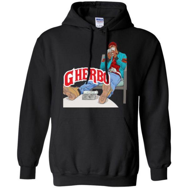 g herbo hoodie - black