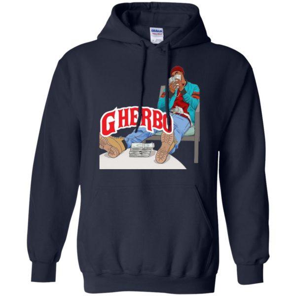 g herbo hoodie - navy blue