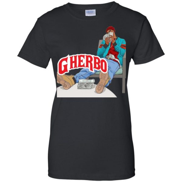 g herbo womens t shirt - lady t shirt - black
