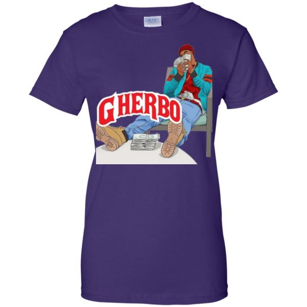 g herbo womens t shirt - lady t shirt - purple