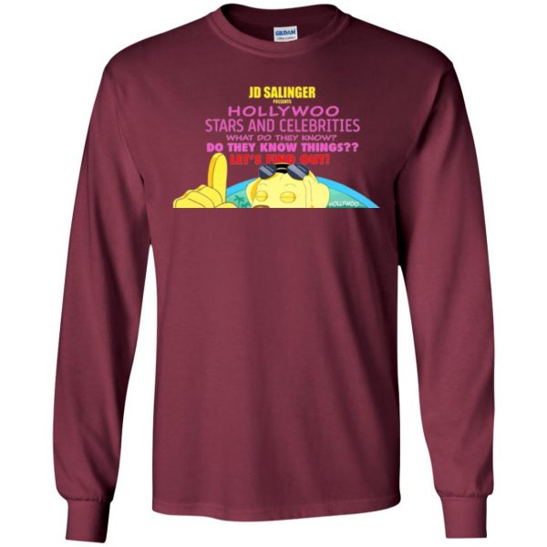hollywoo stars and celebrities long sleeve - maroon