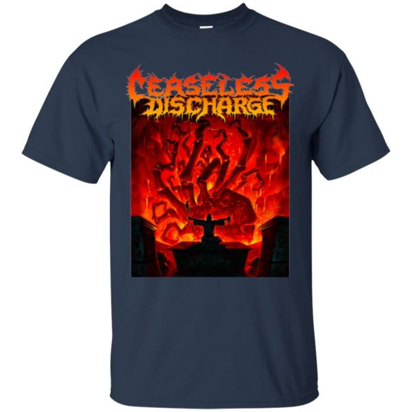ceaseless discharge t shirt - navy blue