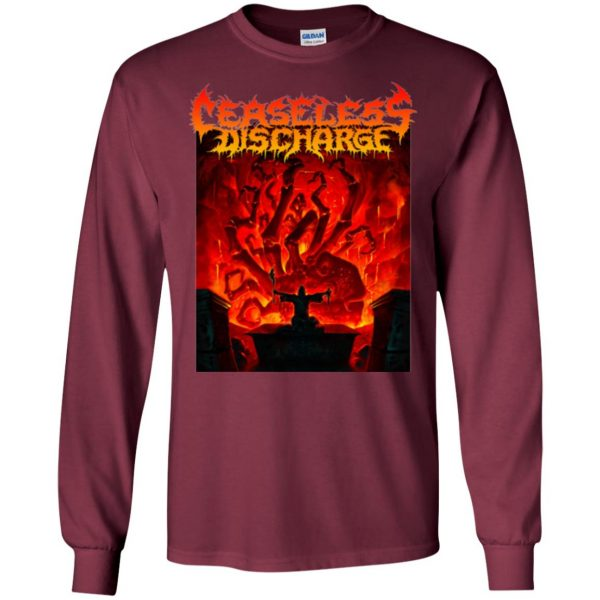 ceaseless discharge long sleeve - maroon
