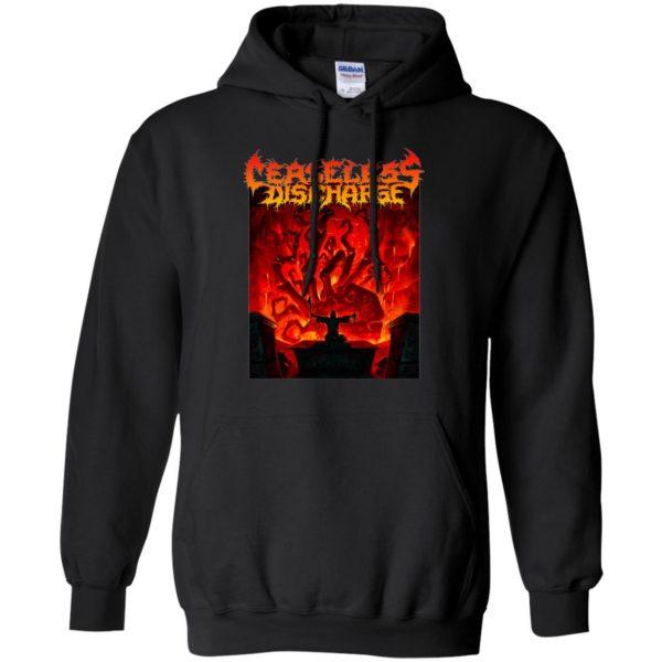 ceaseless discharge hoodie - black