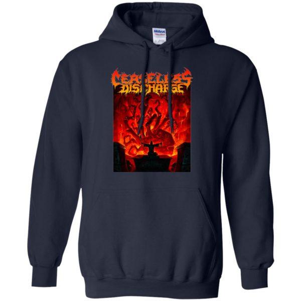 ceaseless discharge hoodie - navy blue