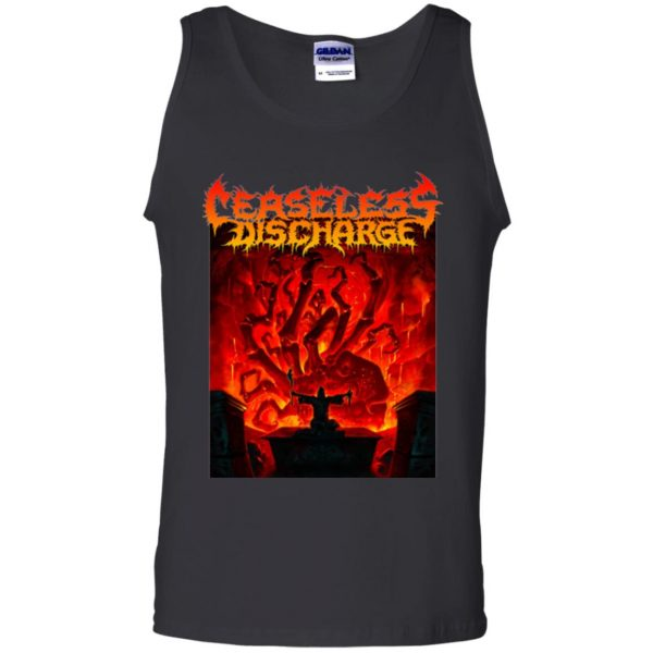 ceaseless discharge tank top - black