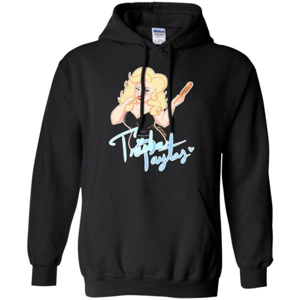 trisha paytas hoodie - black
