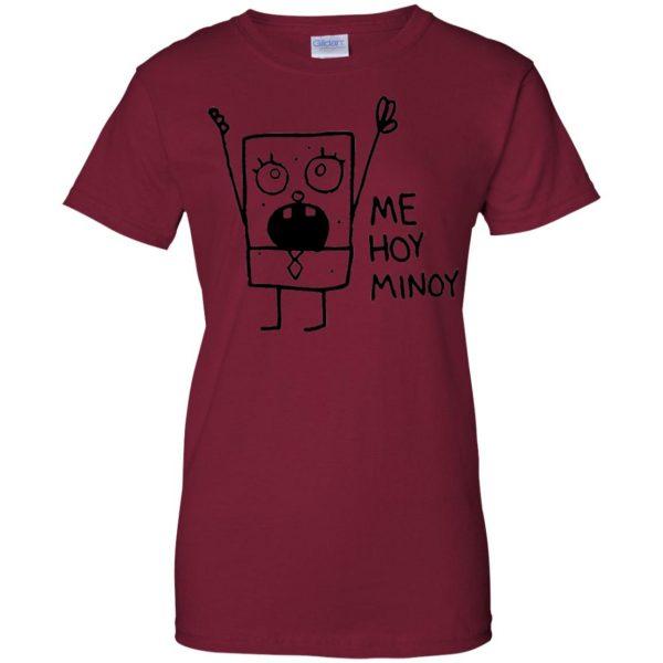 doodlebob womens t shirt - lady t shirt - pink cardinal