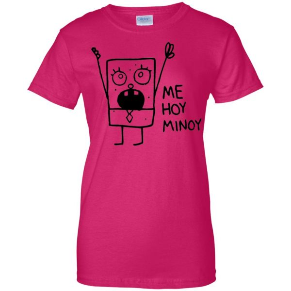 doodlebob womens t shirt - lady t shirt - pink heliconia