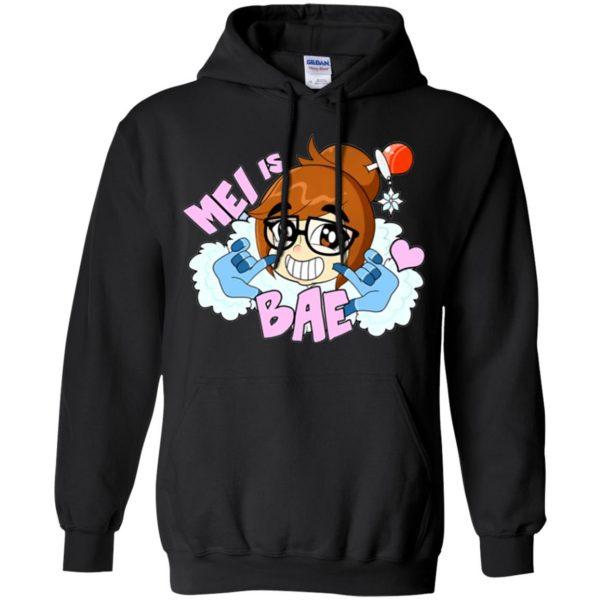 mei is bae hoodie - black