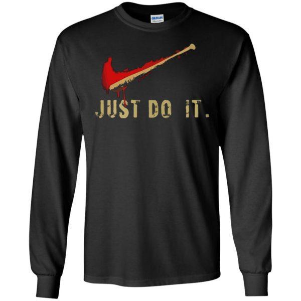 negan just do it long sleeve - black
