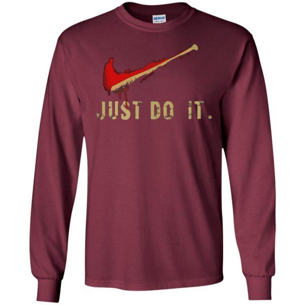 negan just do it long sleeve - maroon