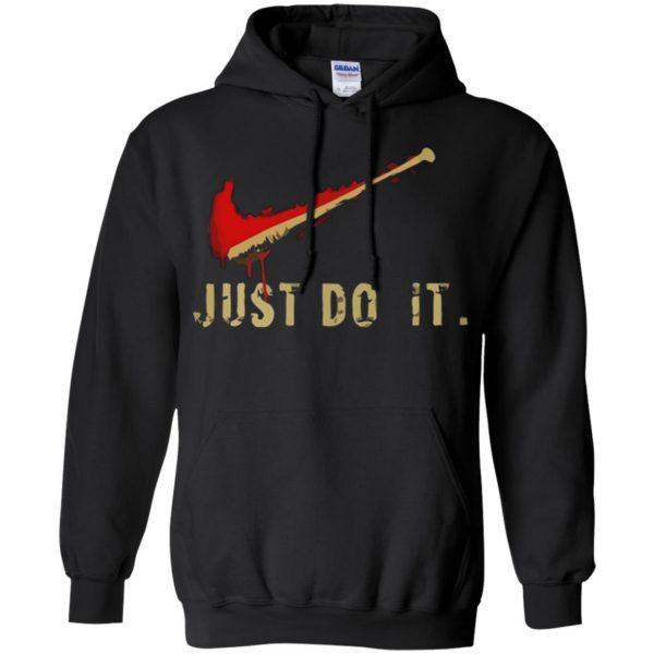 negan just do it hoodie - black