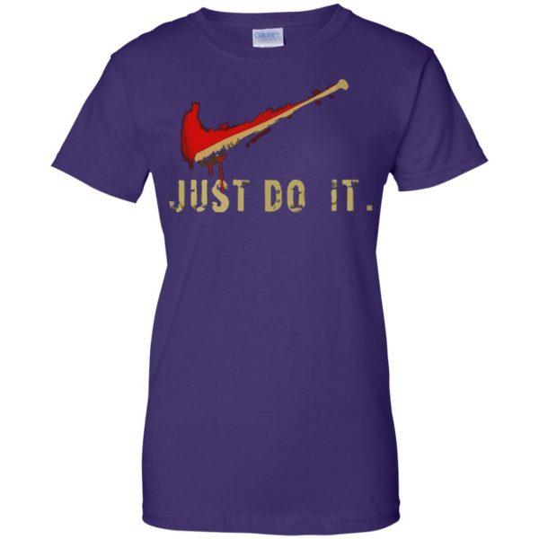 negan just do it womens t shirt - lady t shirt - purple