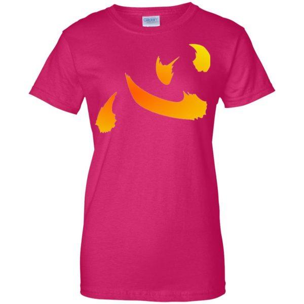 netero heart womens t shirt - lady t shirt - pink heliconia