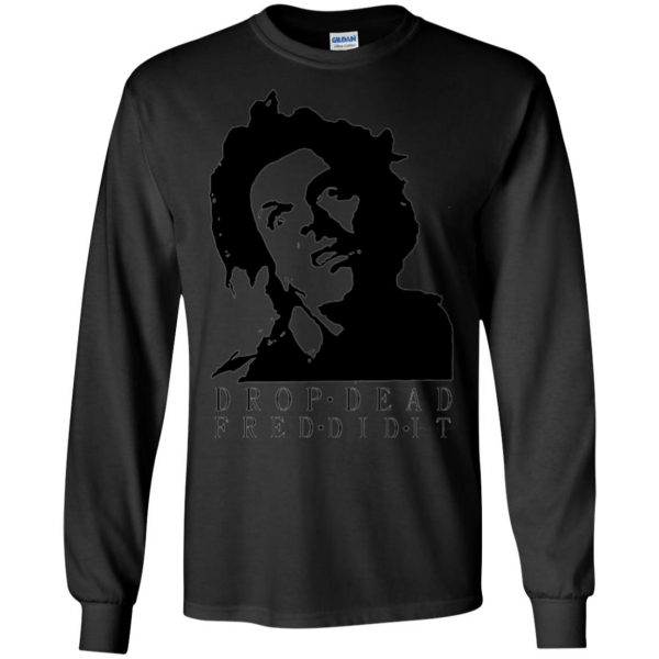 drop dead fred long sleeve - black