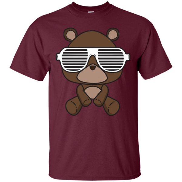 kanye west graduation t shirt - maroon