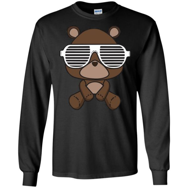 kanye west graduation long sleeve - black