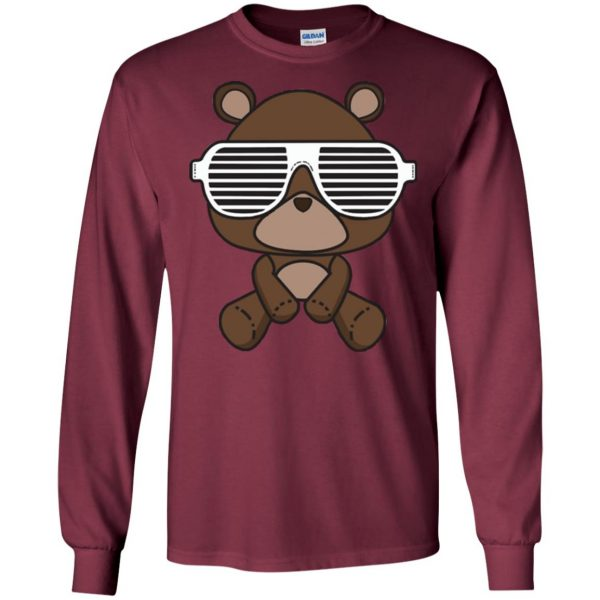 kanye west graduation long sleeve - maroon