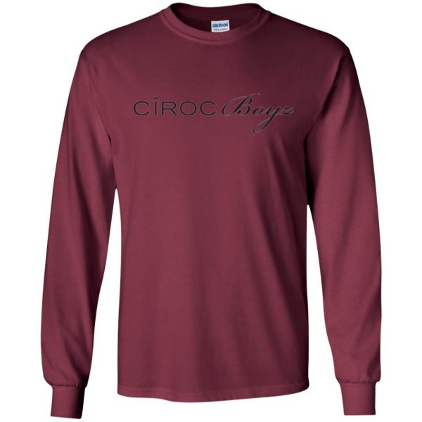 ciroc boyz ts long sleeve - maroon