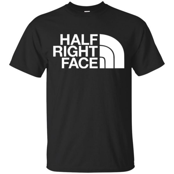 half right face shirt - black