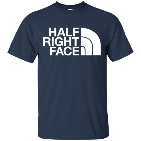half right face t shirt - navy blue