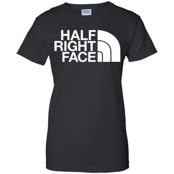 half right face womens t shirt - lady t shirt - black