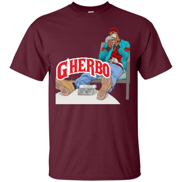g herbo t shirt - maroon