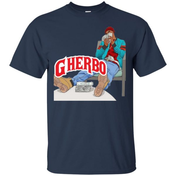 g herbo t shirt - navy blue