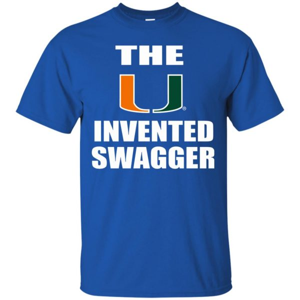 the u invented swagger t shirt - royal blue