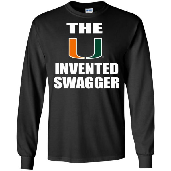 the u invented swagger long sleeve - black