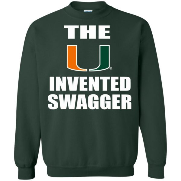 the u invented swagger sweatshirt - forest green