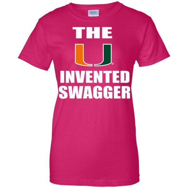 the u invented swagger womens t shirt - lady t shirt - pink heliconia