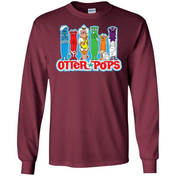 otter pop long sleeve - maroon