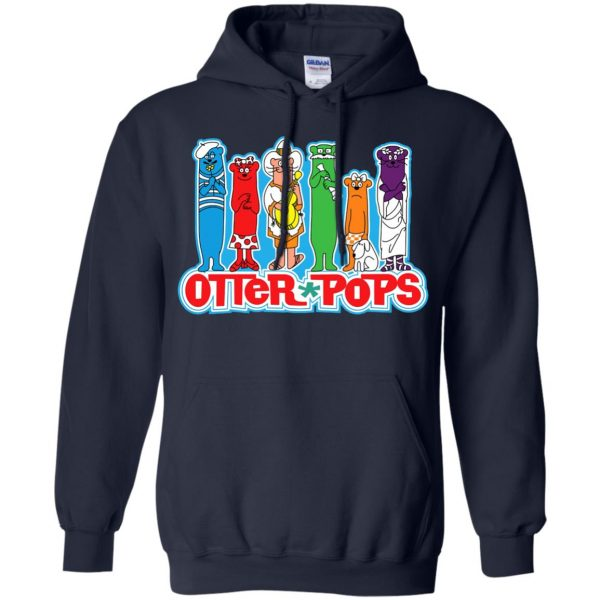 otter pop hoodie - navy blue