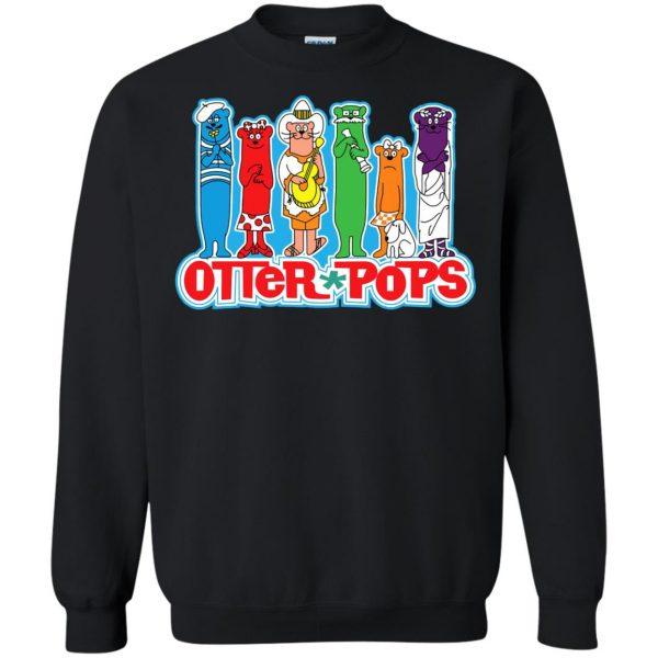 otter pop sweatshirt - black