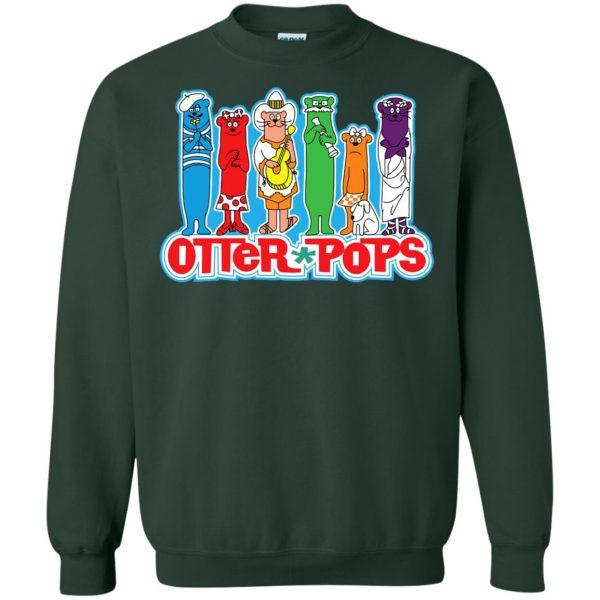 otter pop sweatshirt - forest green