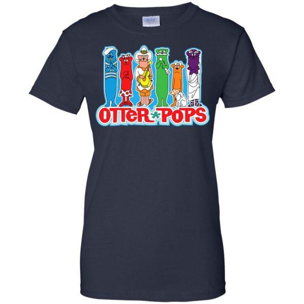 otter pop womens t shirt - lady t shirt - navy blue