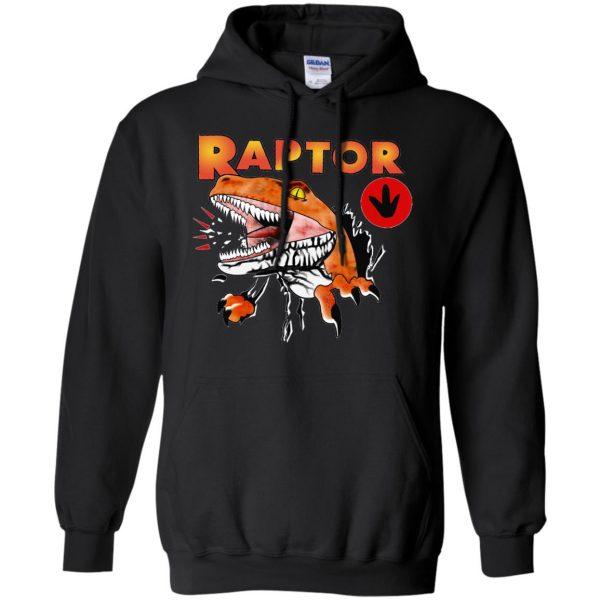 ghost world raptor hoodie - black