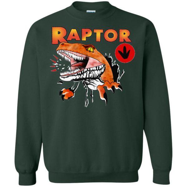ghost world raptor sweatshirt - forest green