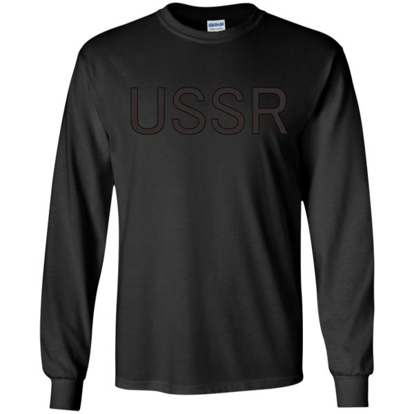 flcl ussr long sleeve - black