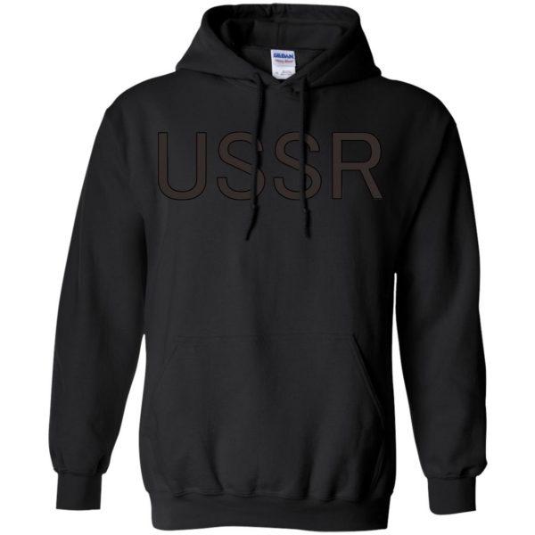 flcl ussr hoodie - black