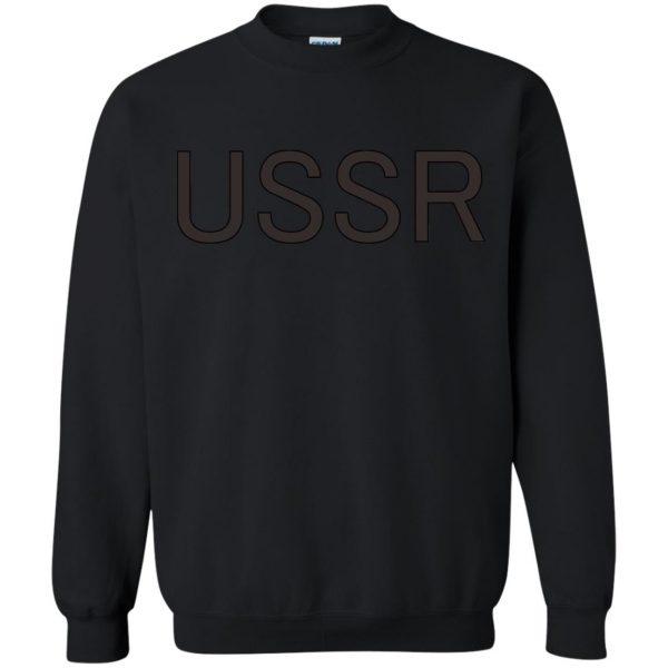 flcl ussr sweatshirt - black