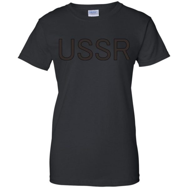 flcl ussr womens t shirt - lady t shirt - black
