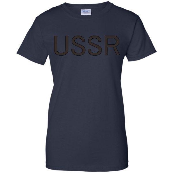 flcl ussr womens t shirt - lady t shirt - navy blue