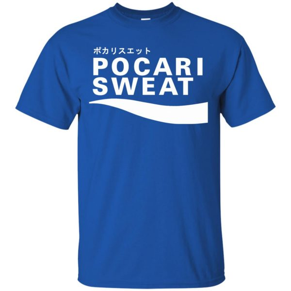 pocari sweat t shirt - royal blue