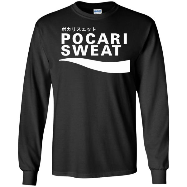 pocari sweat long sleeve - black