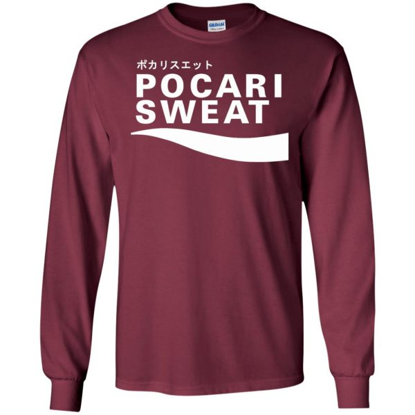 pocari sweat long sleeve - maroon