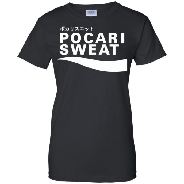pocari sweat womens t shirt - lady t shirt - black